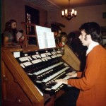 At the Kilgen pipe organ at St. Bartholomew Church in Chicago about 1970.