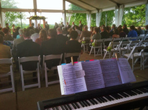 Outdoor Weddings Roof Top Patio Wedding at Silver Springs Golf Club