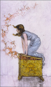 Pandora's Box — once opened impossible to shut.